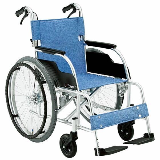 車椅子 軽量 折り畳み 松永製作所 ECO-201B ドラムブレーキ採用 アルミ製自走用車椅子 車いす 送料無料