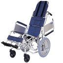 多機能 ティルト 車椅子 エアタイヤ 肘跳ね上げ 折りたたみ アルミ製 NAH-F1 介助用 送料無