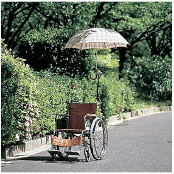 日進医療器さすべえワンタッチ傘取付日傘取付車椅子車いす車イスくるまいす