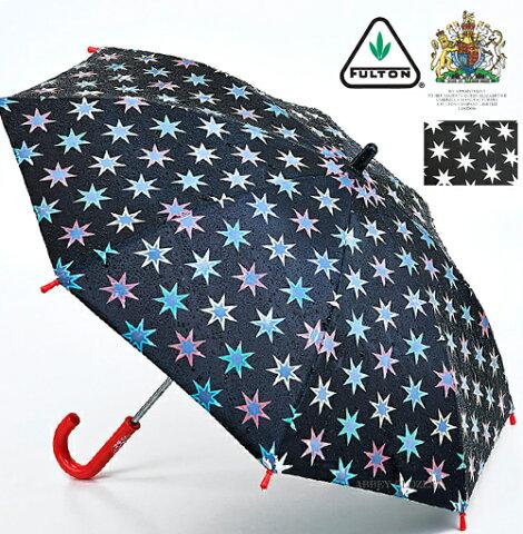 FULTON 傘 小型 キッズ ミニ アンブレラ ウォーターリアクティブスター 【送料無料】 フルトン 子供用 ジュニア 水に濡れると色が浮き出る傘 長傘 英国王室御用達 子ども 星柄 Junior Umbrella かさ イギリス ロンドン fultonc724waterreactivestars ギフト 新築
