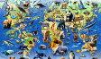 Went Worth ジグソーパズル 動物 世界地図 マップ 英国 雑貨 おもちゃ Puzzle 140ピース 25cm x 17.5cm 【送料無料】イギリス製 went602713 ギフト