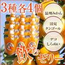 【送料無料】愛媛まるごとゼリー3種12個(175g×12個) 愛媛産/西宇和産/みかん/蜜柑/みかんゼ