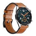 Kartice for Huawei Watch GT/Huawei Watch GT2 46mm/Huawei Watch GT Active バンド 22mm高品質レザーバンド 交換ベルトFossil men/wo..