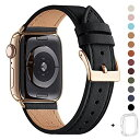 WFEAGL コンパチブル Apple Watch バンド,は本革レザーを使い、iWatch Series 5/4/3/2/1、Sport、Edition向けのバンド交換ストラップ..