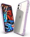 【Ringke】iPhone 11 ケース iPhone11 スマホケース ストラップホール 米軍MIL規格取得 クリア 透明 落下防止 カバー Qi ワイヤレス充電対応 iPhone ケース Fusion (Lavender ラベンダー)