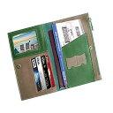 パスポートケース 牛革 出張用 パスポートホルダー スキミング防止 パスポートカバー 海外旅行 高級本革 カードケース 多機能収納 大容量 パスポートポーチ (グリーン)