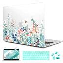 CISOO MacBook Pro 13インチ ケース A1706 A1989 A2159対応 ハードカバー Touch Bar 超薄型 保護カバー 2016-2019 プロ 13 ケース おしゃれ JIS配列 キーボードカバー 液晶保護フィルム MacBook Pro13 touch bar付き(A1706/A1989/A2159) ワイルドフラワー