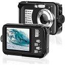 デジカメ防水 防水カメラ (2021新型)フルHD 1080P30.0MP 2.7インチスクリーン16倍デジタルズーム 水下3m防水 最大128GBのSDカード対応 日本語取扱説明書付き 子供や初心者など最適ギフト(ブラック) AC010