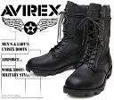 [AVIREX] アヴィレックス(アビレックス) AV-2001 COMBAT コンバットブーツ Black ブラック メンズ&レディース 本革 ミリタリー シ...