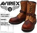 [AVIREX] アヴィレックス(アビレックス) AV-2100 YAMATO ヤマト Brown×Crazy Horse ブラウン×クレイジーホース メンズ&レディース 本革 ライダースブーツ ミリタリーブーツ ショートブーツ