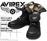 [AVIREX] アヴィレックス(アビレックス) AV-3400 SCORPION-HI Black×Camo ブラック×カモフラ メンズ&レディース 本革 スニーカーブーツ