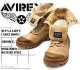 [AVIREX] アヴィレックス(アビレックス) AV-3400 SCORPION-HI Beige ベージュ メンズ&レディース 本革 スニーカーブーツ
