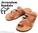 [Jerusalem Sandals] エルサレム・サンダル 202/RACHEL Camel キャメル メンズ 本革 ゴム底 レザーサンダル ビーチサンダル