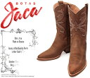 [Botas Jaca] ハカ 8008 Piel Crazy Horse Oakwood オークウッド・クレイジーホース・ブラウン/茶 レディース 本革 ウエスタン..