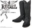 [Botas RUDEL] ルーデル RUD004 Crazy Black クレイジーブラック オイルレザー メンズ 本革 ウエスタンブーツ カウボーイブーツ ...