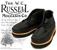 [Russell Moccasin] ラッセルモカシン 200-27W スポーティング クレーチャッカ・ブーツ Black Weather Tuff ブラック(Black/Black)