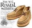 [Russell Moccasin] ラッセルモカシン 200-27W スポーティング クレーチャッカ・ブーツ Tan Laramie Suede タン・ララミースエード(Gold/White)