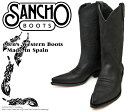 [SANCHO] サンチョ BW-5326 Black ブラック メンズ 本革 ウエスタンブーツ カウボーイブーツ ロングブーツ