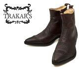 [TRAKAR'S] トラッカーズ 14305 Brown-Liz×Brown ブラウン・リザード(型押)×ブラウン メンズ&レディース 本革 ウエスタンブーツ ショートブーツ