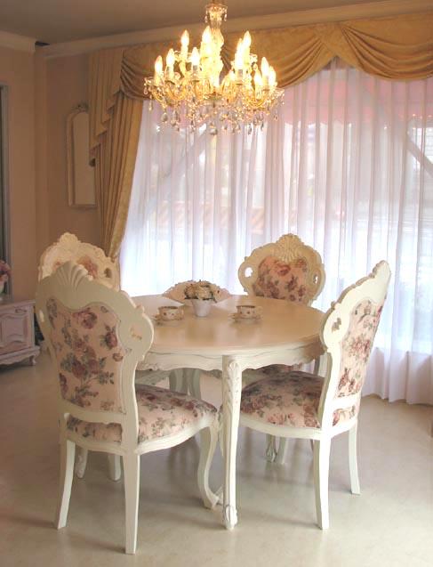 輸入家具■プリンセス家具■猫脚■ビバリーヒルズ■白家具■ラウンドテーブル