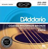 【2セットまではネコポス送料無料】D'Addario ダダリオ EXP16 .012-.053 Light 1セット売り/アコースティックギター弦/コーティング/ライト