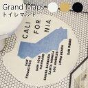 グランドマップ トイレマット Grand Maps【インターフォルム INTERFORM】FL3252トイレマット 外国 アメリカ カルフォルニア ポートランド マンハッタン オシャレ 西海岸