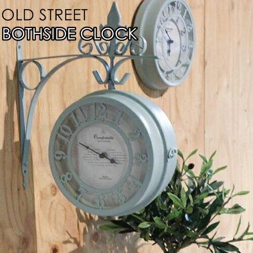 オールドストリート ボースサイド クロック L【スパイス SPICE】Old Street Both Side Clock 両面時計 回転可能 店舗装飾 壁掛け時計