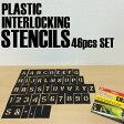 【メール便送料無料】【CH Hanson】PLASTIC STENCIL PLATES プラスチック ステンシル プレート 2インチ [英数字46ピースセット]DIY 世田谷ベース ステンシルシート アルファベット