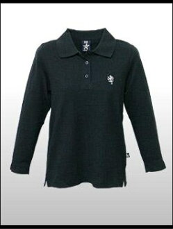 BB 倫敦 BB-女式-L / S Polo @HILDA-黑 [LY202] 女裝 polo 衫 / 7 軸套