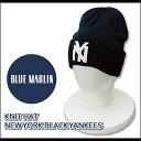 【即納】BLUE MARLIN(ブルーマーリン) Knit Cap @NEW YORK BLACK YANKEES NAVY[ABBM101...