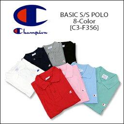【即納】CHAMPION(チャンピオン) BASIC S/S POLO [C3-F356] ロゴ アクションスタイル ポロシャツアメカジ レディス メンズ【\2900】【smtb-kd】【RCP】