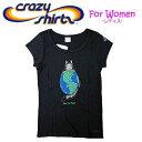 Crazy Shirts(クレイジーシャツ)-Womens- S/S Tee @Kliban Cats[20069190] BK EARTH CAT クリバンキ...