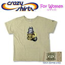 Crazy Shirts(クレイジーシャツ)-Womens- S/S Scoope Neck Tee @Coffee Dyed[2006938] COFFEE CAT クリバンキャット 半袖 Tシャツ HAWAII ハワイ ネコ レディース コナコーヒー染め 【RCP】