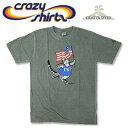 Crazy Shirts(クレイジーシャツ) S/S Tee @CRATER DYED[2008071] PATRIOTIC CATクリバンキャット 半袖 Tシャツ HAWAII ハワイ ネコ 火山灰【RCP】