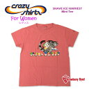 Crazy Shirts(クレイジーシャツ)-Womens- S/S Mini Tee @Strawberry Dyed[2013769] SHAVE ICE HARVEST クリバンキャット 半袖 Tシャツ ..