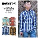 【即納】HOUSTON(ヒューストン) VIYELLA WORK SHIRT[40223A] ネルシャツ ビエラ チェックシャツ 長袖シャツ メンズ レディース 2016F/W..