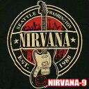 ROCK TEE NIRVANA-9[ニルヴァーナ]Est 1988 Guitar Stampメール便送料無料 ロックTシャツ/バンドTシャツ 【smtb-kd】