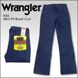 【即納】WRANGLER(ラングラー) DENIM @ Slim Fit Boot Cut [935] 未洗い ブロークンデニム シューカット 生デニム USAジーンズ ブーツカット リジッド 米国ラ