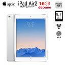 【中古】Apple iPadAir2 Retina Docomo Wi-Fi+Cellular 16GB MGH72J/A 指紋認証 [Apple A8X 16GB(SSD) 9.7インチ iPadOS 13.5.1 シルバ..