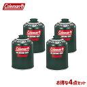 Coleman[コールマン] ガス 純正イソブタンガス[4個セット] CM 5103A450T 純正イソブタンガス[Tタイプ]470g キャンプ・アウトドア用品