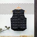 ナンガ[NANGA] ダウンベスト ダウンジャケット アウター アウトドア DV-4[ブラック/M]