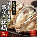 殻付き牡蠣(冷蔵) 極上三陸産 産地直送 送料無料 3kg ※賞味期限発送日から4日 お中元 ギフト