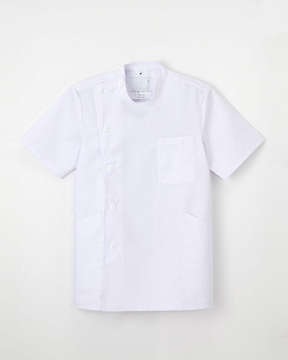 【ナガイレーベン】白衣 EP-167【男性用 メンズ 半袖 KC/ケーシー】