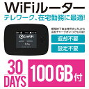 Wifi モバイルルーター 30日 100GB 国内 即日利用可能 ルーター SIMフリー プリペイド 高速 小型 在宅勤務 テレワーク 4GLTE SoftBank回線 大容量 LTE