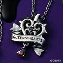 ショッピングHEARTS ネックレス/ディズニー ヴィランズ ハートの女王 ふしぎの国のアリス Disney Villians Queen of Hearts/シルバー925 サージカルステンレス316L ハート 王冠 薔薇の蔦 ペンダント DI703