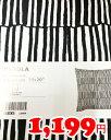 5の倍数日は楽天カードエントリーで5倍/【IKEA】イケア通販【VENDLA】クッションカバー(50×50cm)(ブラック×ホワイト)
