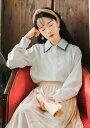 レディース ブラウス ロングシャツ ボウタイブラウス 長袖シャツ トップス カジュアル キュート 可愛い フェミニン きれいめ 上品 エレガント おしゃれ お出かけ オフィス ブルー ピンク ホワイト 水色 桃 白 フリーサイズ 送料無料
