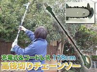 コードレス高枝切りチェーンソー(YSGT-08014)
