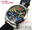 【在庫処分】Disney ミッキーマルチカラーインデックス腕時計(ブラック×ブラック)