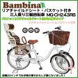 【送料無料・代引き不可】Bambina リアチャイルドシート・バスケット付三輪自転車(MG-CH243RB)